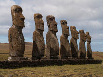 Rangée de Moai Photo libre de droits