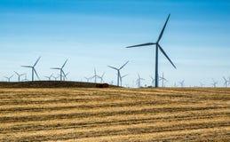 Rangée de moulin à vent Images libres de droits