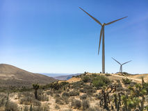 Rangée de moulin à vent Image libre de droits