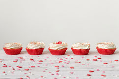 Rangée de petit gâteau Image stock