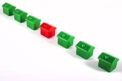 Rangée de Toy Houses images stock