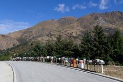 Rangée des boîtes aux lettres au Nouvelle-Zélande Images stock