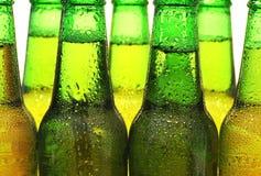 Rangée des bouteilles à bière Photos stock