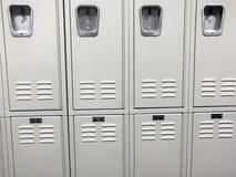 Rangée des casiers d'école Photo libre de droits