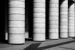 Rangée des colonnes Photo stock