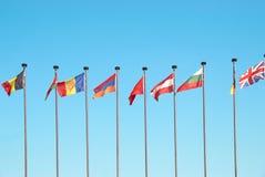 Drapeaux européens Photos libres de droits