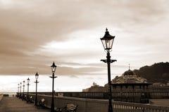 Rangée des lampes de vintage dans la sépia Images stock