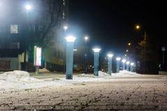 Rangée des lumières de nuit Image libre de droits