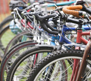 Rangée des vélos Photo libre de droits