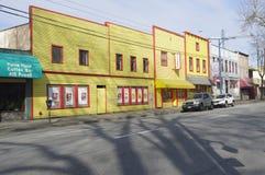 Rangée du bâtiment sur Powell Street à Vancouver Photographie stock