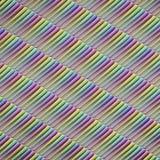 Rangée isométrique de battes de baseball vibrant colorées Image stock