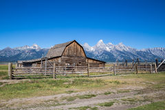 Rangée mormone, parc national grand de Teton, Wyoming, Etats-Unis Photo stock