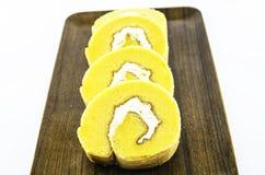 Rangée orange de gâteau Photos libres de droits