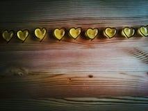 Rangée romantique de sucrerie de coeur Photographie stock libre de droits