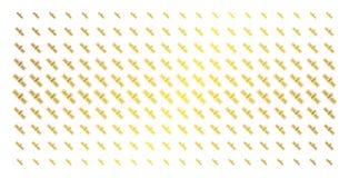 Rangée tramée d'or satellite illustration de vecteur