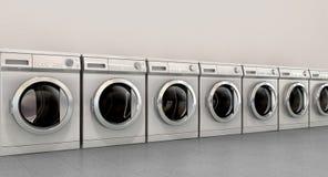 Rangée vide de machine à laver Images stock