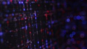 Rangées de code hexadécimal d'ordinateur sur le moniteur Photo stock
