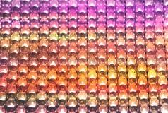 Rangées des ampoules colorées de LED photographie stock libre de droits