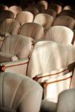 Rangées des fauteuils beiges de velours Images libres de droits
