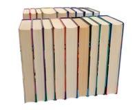 Rangées des livres image stock