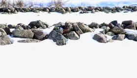 Rangées des roches Photographie stock