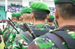 Rangées militaires Photographie stock