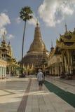 Rangún Myanmar 5 de noviembre de 2014 Pagoda de Shwedagon Imagen de archivo libre de regalías