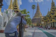 Rangún, pagoda de Myanmar el 7 de noviembre de 2014 - Shwedagon Imagenes de archivo