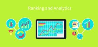 Rang et concept de construction d'Analytics Photo stock
