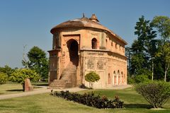 The Rang Ghar, Sivasagar, Assam India. The Rang Ghar  the royal sports-pavilion where Ahom kings and nobles were spectators at games located close the Sivasagar stock image