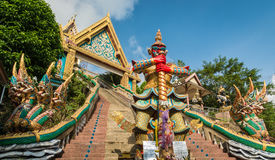Rang Hill Temple  Wat Khao Rang  in phuket, Thailand. Rang Hill Temple  Wat Khao Rang  with blue sky in phuket, Thailand Royalty Free Stock Photos