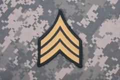 Rang uniforme de sergent de l'armée américaine Image libre de droits