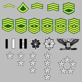 Rangabzeichen der AMERIKANISCHEN Armee Lizenzfreies Stockbild