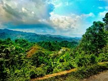 Rangamati-Hügel lizenzfreies stockbild