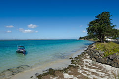Rangaunu harbour in Karikari Peninsula New Zealand Stock Image