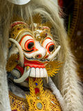 Rangda The Evil Witch. Queen of the Leak in Barong dance. This character portrays darkness, evil and is in constant conflict with the Barong who is the light royalty free stock image