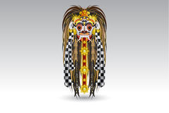 rangda för läcka för bali demonillustra traditionell maskan Arkivfoto