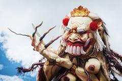 Rangda - traditional Balinese demon ogoh-ogoh Royalty Free Stock Images