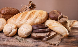 The range of baking on a wooden table Stock Photo