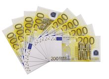 Range of banknotes Stock Images