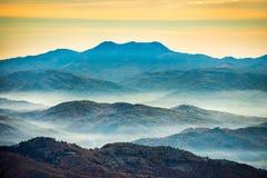 Range of blue mountains stock photos