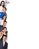 Range of business people in the angle Royalty Free Stock Photo