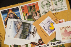 Range of Canadian postage stamps from Canada Stock Photography
