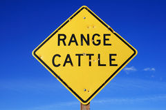 Range cattle sign Stock Photo