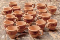 Range of clay pottery Royalty Free Stock Photography