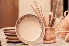 Range of clay pottery Stock Photography