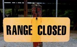 Range Closed Sign Stock Photo