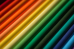 Range of coloring pencils Stock Photo