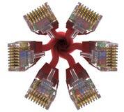 Range of connectors rj45. 3d rendering Royalty Free Stock Image
