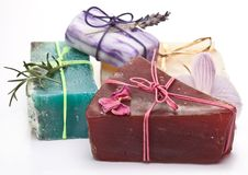 Range of different soaps Royalty Free Stock Photo